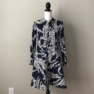 BODEN | Navy Blue A-line Shirt Dress